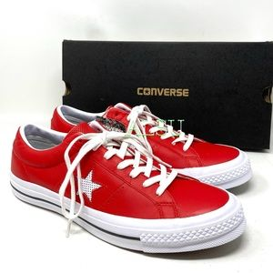 Converse One Star Leather Low Top Casino Red Men's